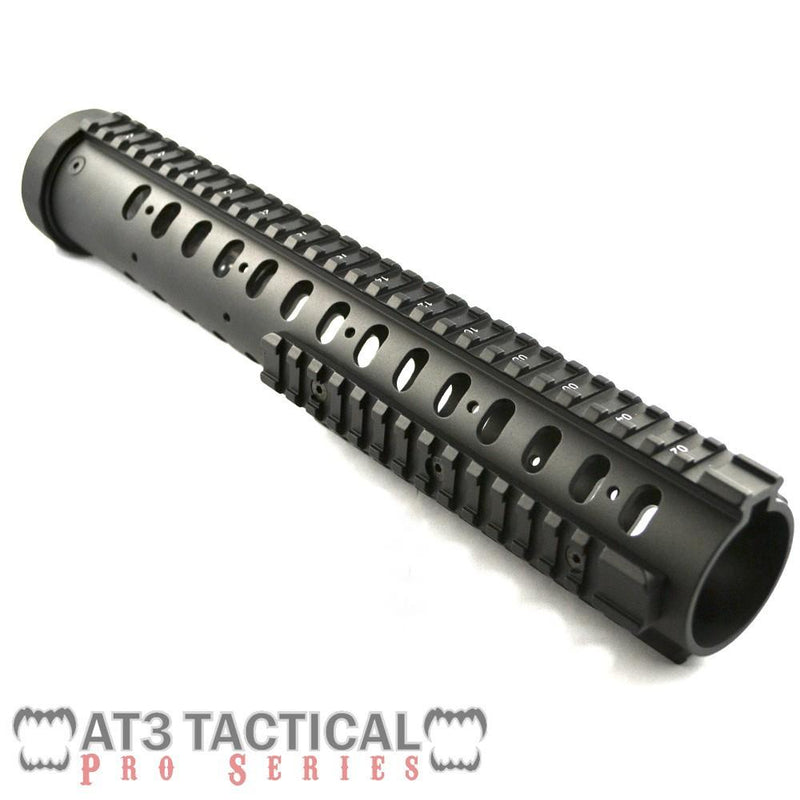 "Clearance - BLEMISHED - AT3 Tactical 12.5"" Free Float Quad Rail Handguard W Detachable Rails - Pro Series"