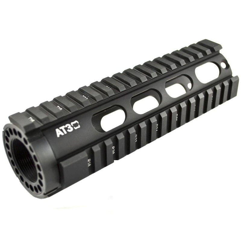 "Clearance - BLEMISHED - AT3 Tactical Carbine-Length 7"" Free Float Quad Rail Handguard T-Series - Oval Vent Holes"