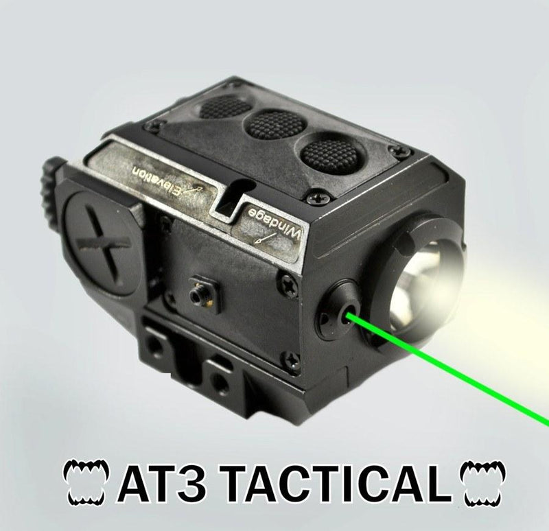 Clearance - BLEMISHED - AT3 Tactical Green Laser Light Combo With LED Strobe Flashlight LL-02G