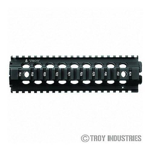 "Clearance - Troy 9"" Mid-Length Battle Rail AR-15 Drop-In Quad Rail--BLACK"
