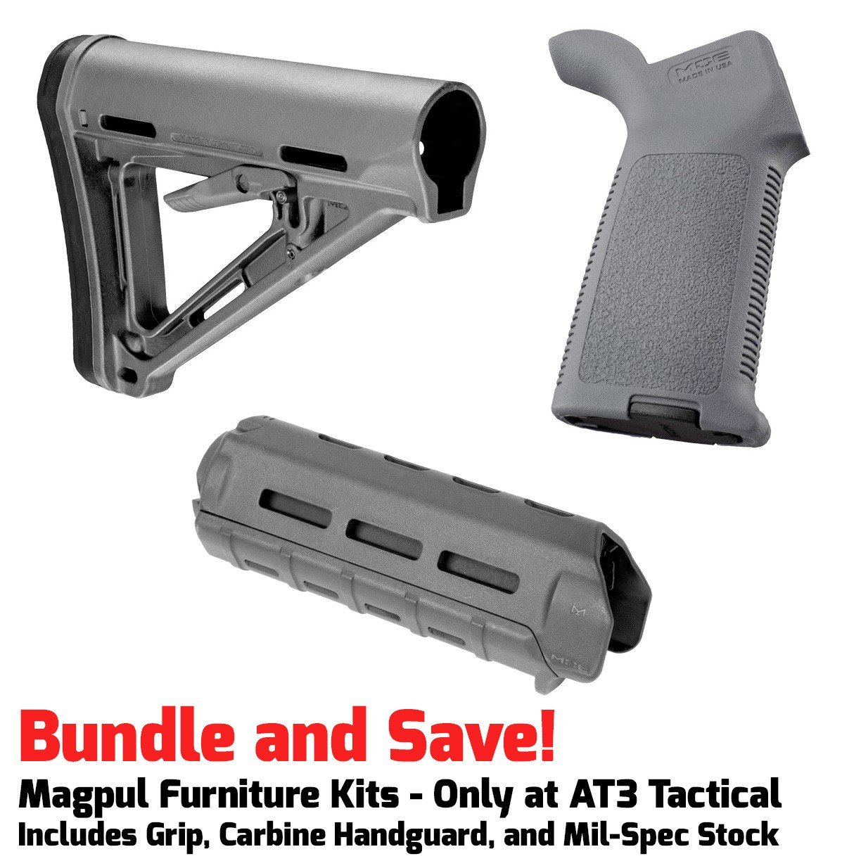 Furniture Kits   Magpul MOE M LOK Furniture Kit   Stock, Carbine Handguard U0026