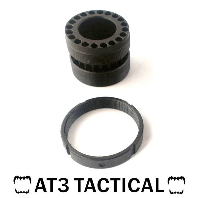 Handguards & Quad Rails - Replacement Lock Nut And Barrel Nut For AT3 Tactical T-Series Free Float Quad Rail Handguards