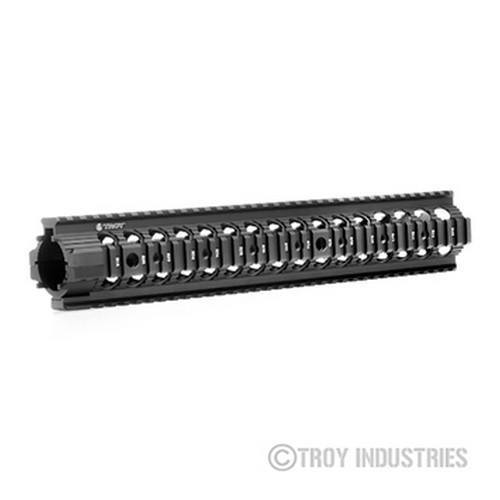 "Handguards & Quad Rails - Troy 13.8"" MRF-RX AR-15 Battle Rail - Free Float Quad Rail Handguard"
