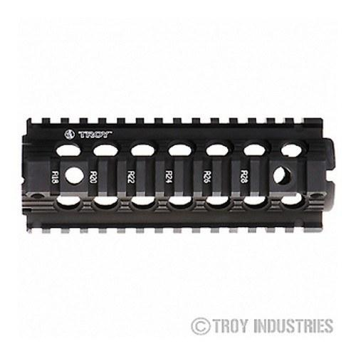 "Handguards & Quad Rails - Troy 7"" Carbine Length Battle Rail AR-15 Drop-In Quad Rail-BLACK"