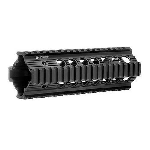 "Handguards & Quad Rails - Troy Bravo Rail 7.2"" Free Float Quad Rail"