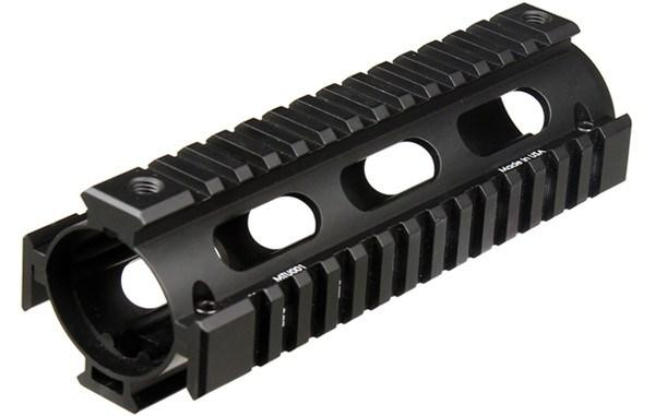 Handguards & Quad Rails - UTG Pro Drop-In Carbine AR-15 Quad Rail - 2-Piece - With Rail Covers - MTU001