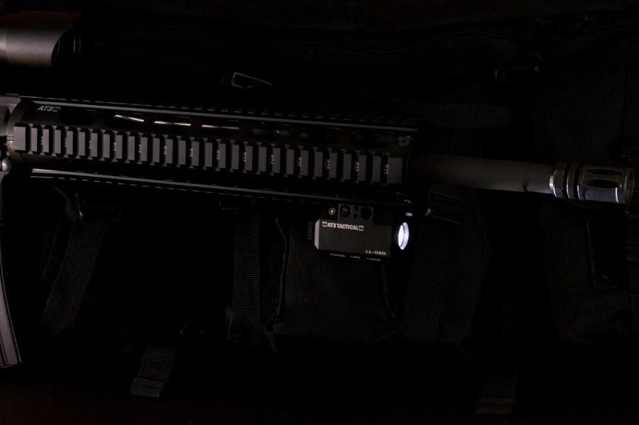 At3 Tactical Green Laser Light Combo With Led Strobe