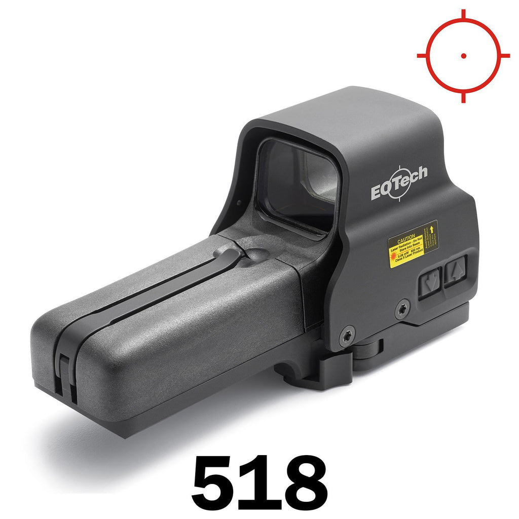 Red Dot Sights - Eotech Holographic Sight 518 - 1 MOA Dot & Ring Reticle - AA Batt - QD Riser Mount