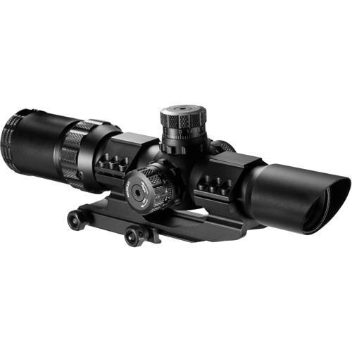 Scopes - Barska Optics SWAT Scope 1-4x28mm, 30mm Tube, IR Glass, Mil-Dot Reticle - AC11872