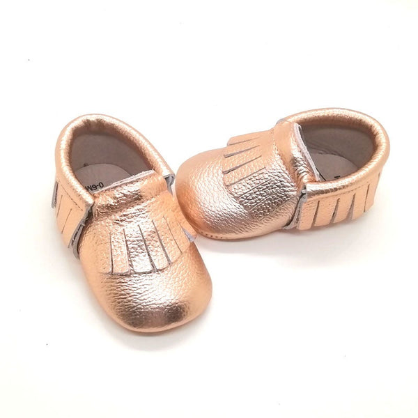 Lore Leather Moccasin Rose Gold
