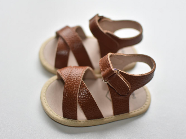 Reed Leather Sandal Brown