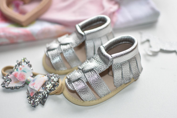 Angel Leather Sandal Silver