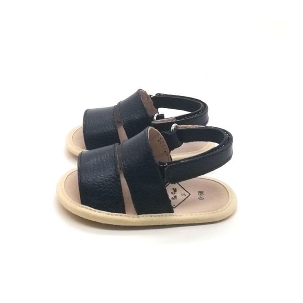 Franki Leather Sandal Dark Navy