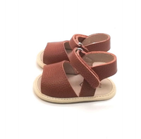 Stormi Leather Sandal Brown