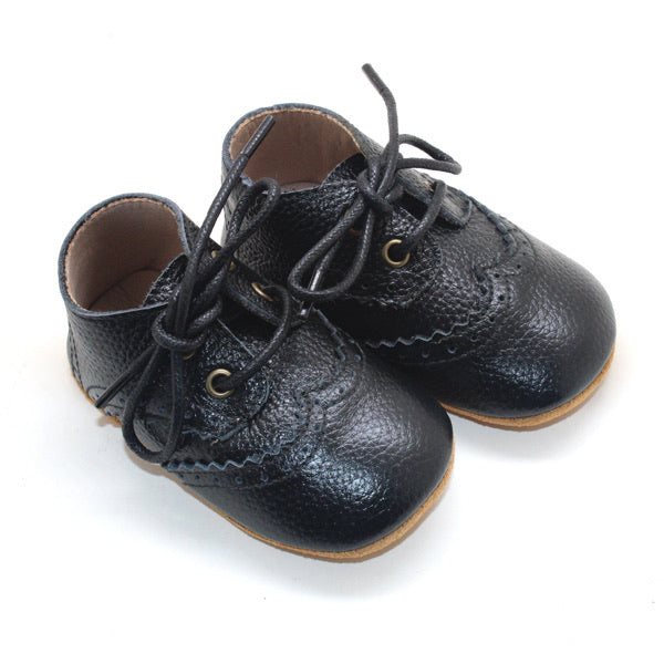 Vita Leather Lace Boot Black
