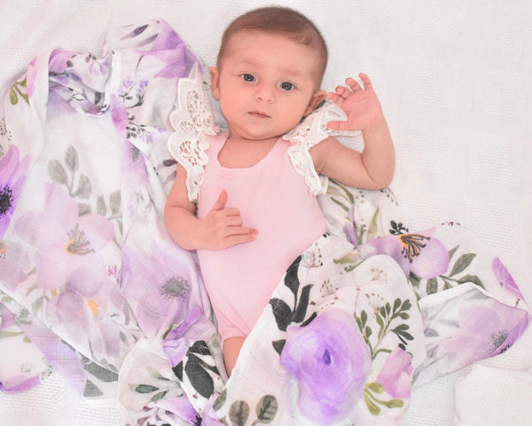 'Violet' Bamboo Swaddle