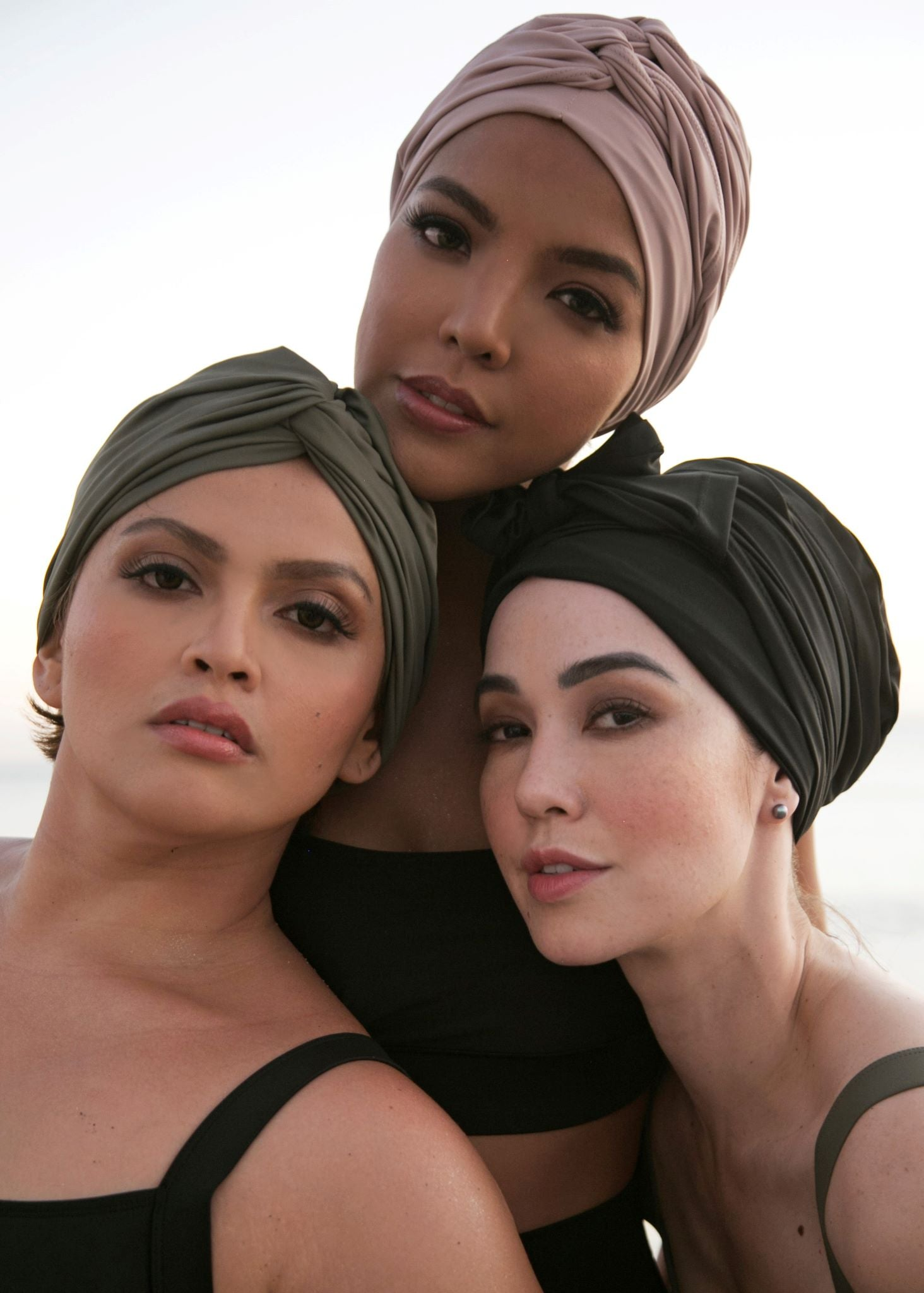 Self-tie Swim Turban - Hazelnut