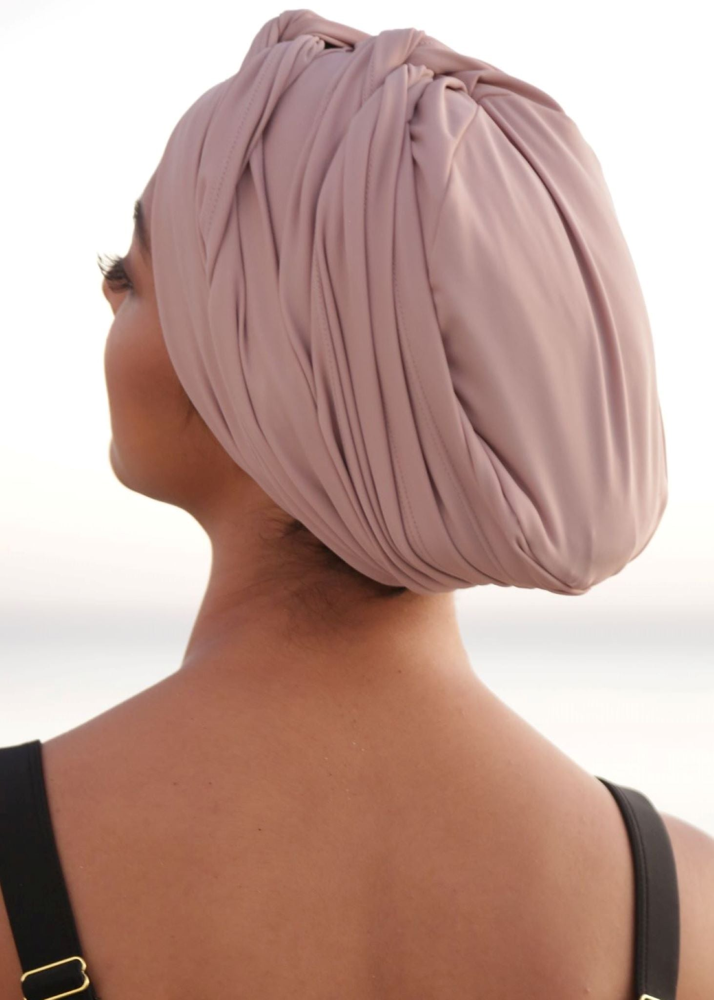 Self-tie Swim Turban Mauve