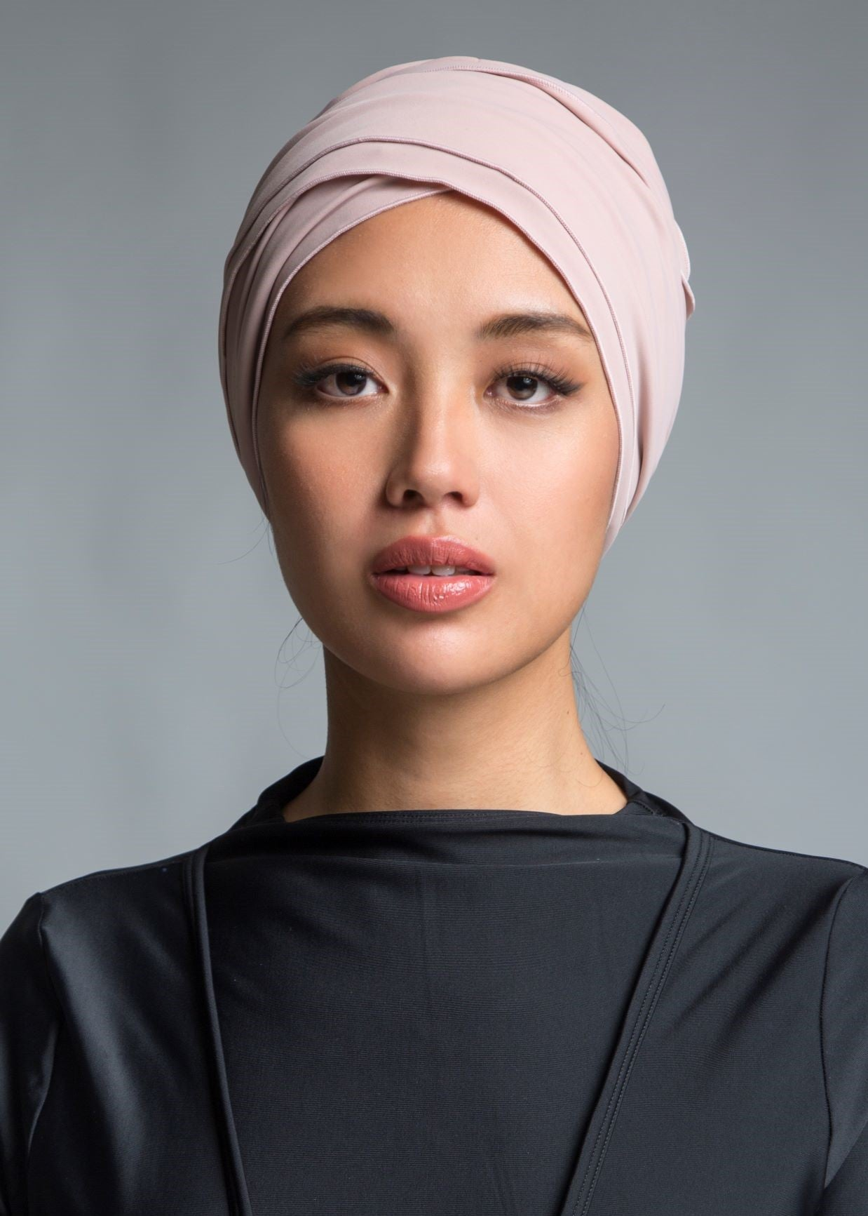 Self-tie Swim Turban - Mauve