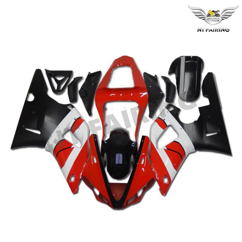 NT Aftermarket Injection ABS Plastic Fairing Fit for YZF R1 2000-2001 Red White Black N001