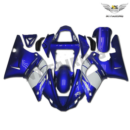 NT Aftermarket Injection ABS Plastic Fairing Fit for YZF R1 2000-2001 Blue White N002