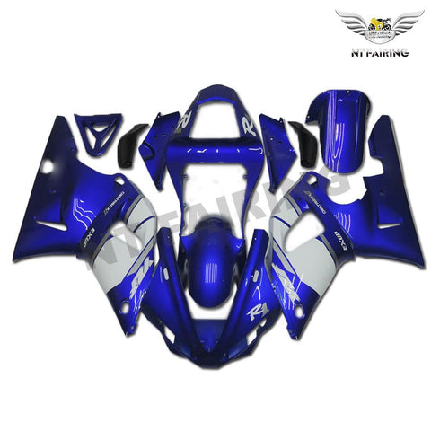 NT Aftermarket Injection ABS Plastic Fairing Fit for YZF R1 2000-2001 Blue White N002 Available in TX