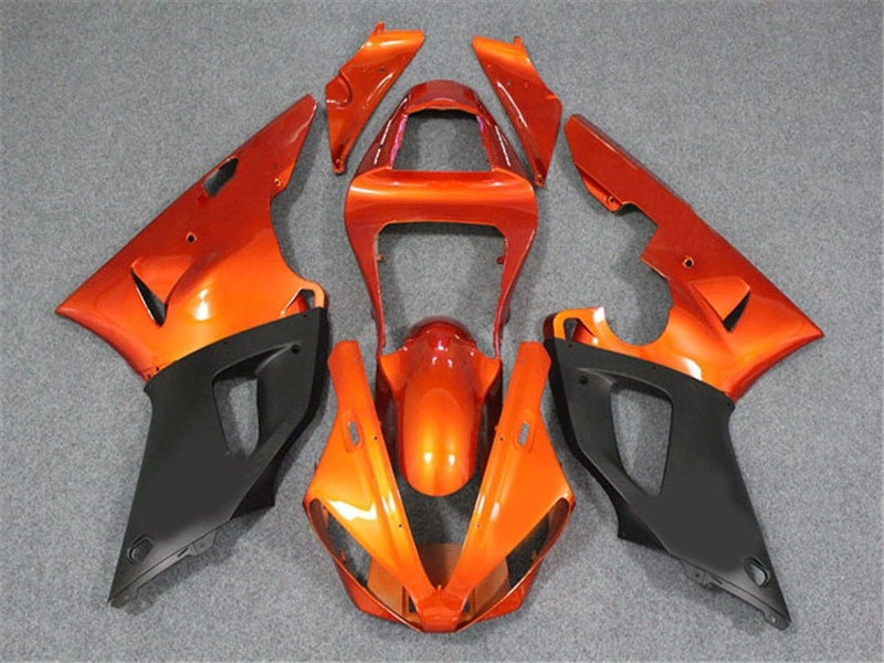 NT Aftermarket Injection ABS Plastic Fairing Fit for YZF R1 2000-2001 Orange Black N004