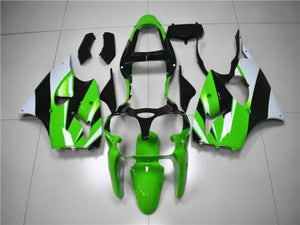 NT Aftermarket Injection ABS Plastic Fairing Fit for ZX6R 636 2000-2002 Green White Black N016 Available in IL