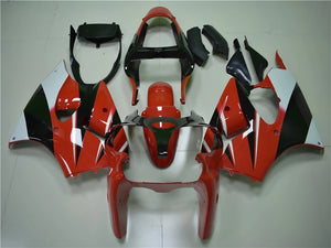 NT Aftermarket Injection ABS Plastic Fairing Fit for ZX6R 636 2000-2002 Red Black White N017 Available in TX IL