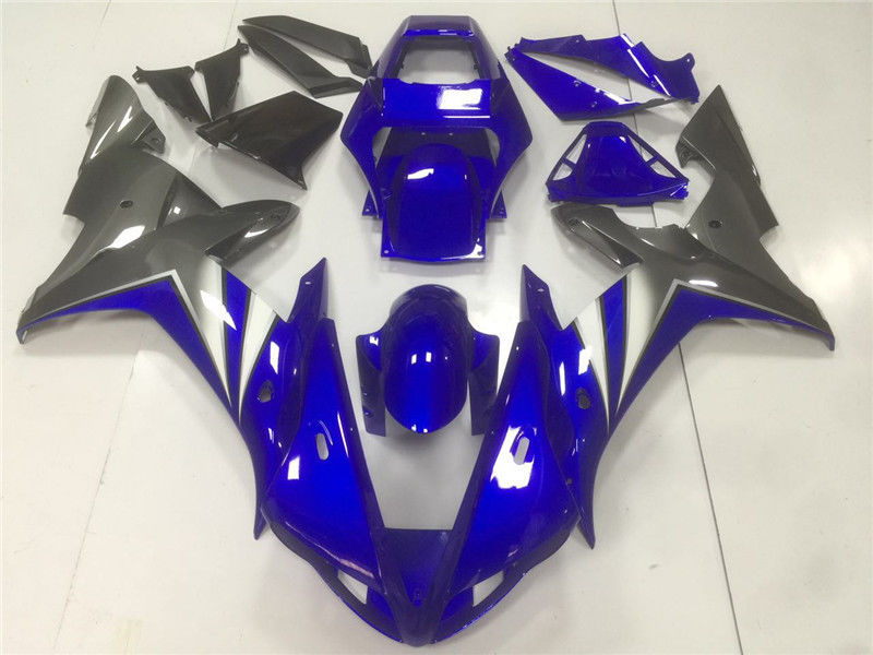 NT Aftermarket Injection ABS Plastic Fairing Fit for YZF R1 2002-2003 Blue Black N005 Available in CA