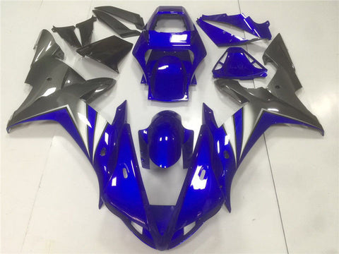 NT Aftermarket Injection ABS Plastic Fairing Fit for YZF R1 2002-2003 Blue Grey N005