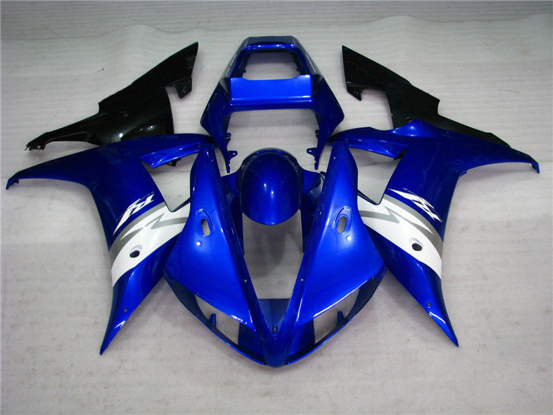 NT Aftermarket Injection ABS Plastic Fairing Fit for YZF R1 2002-2003 Blue White N017 Available in TX, KY