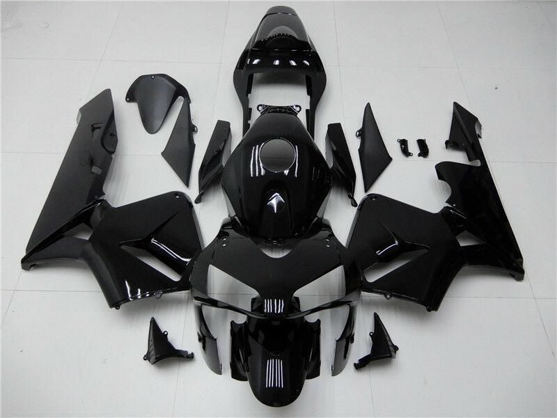 NT Aftermarket Injection ABS Plastic Fairing Kit Fit for CBR600RR 2003 2004 Glossy Black N003