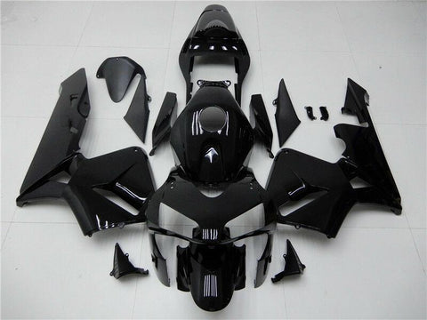 NT Aftermarket Injection ABS Plastic Fairing Kit Fit for CBR600RR 2003 2004 Glossy Black N003 Available in IL
