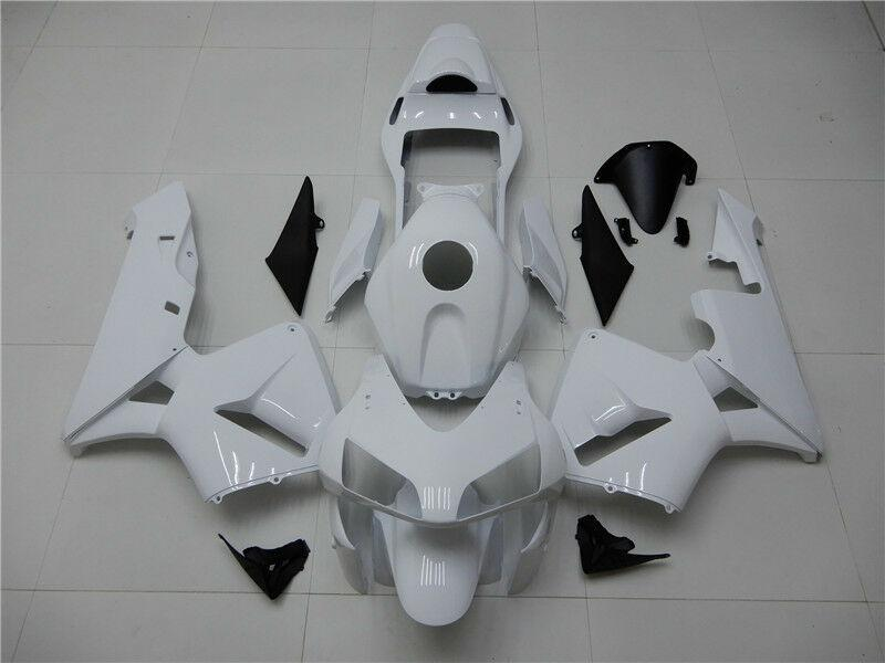 NT Aftermarket Injection ABS Plastic Fairing Kit Fit for CBR600RR 2003 2004 Glossy White N005 Available in CA