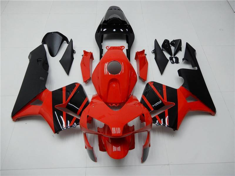 NT Aftermarket Injection ABS Plastic Fairing Fit for CBR600RR 2003-2004 Black Red N079