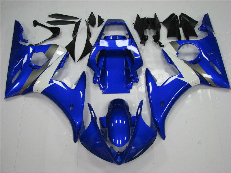 NT Aftermarket Injection ABS Plastic Fairing Fit for YZF R6 2003-2005 Blue White N034 Available in CA, TX, IL