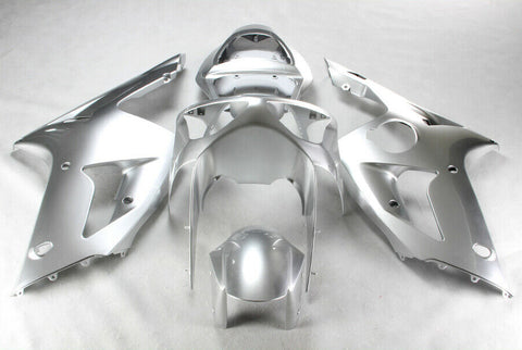 NT Aftermarket Injection ABS Plastic Fairing Fit for ZX6R 636 2003-2004 Silver N016