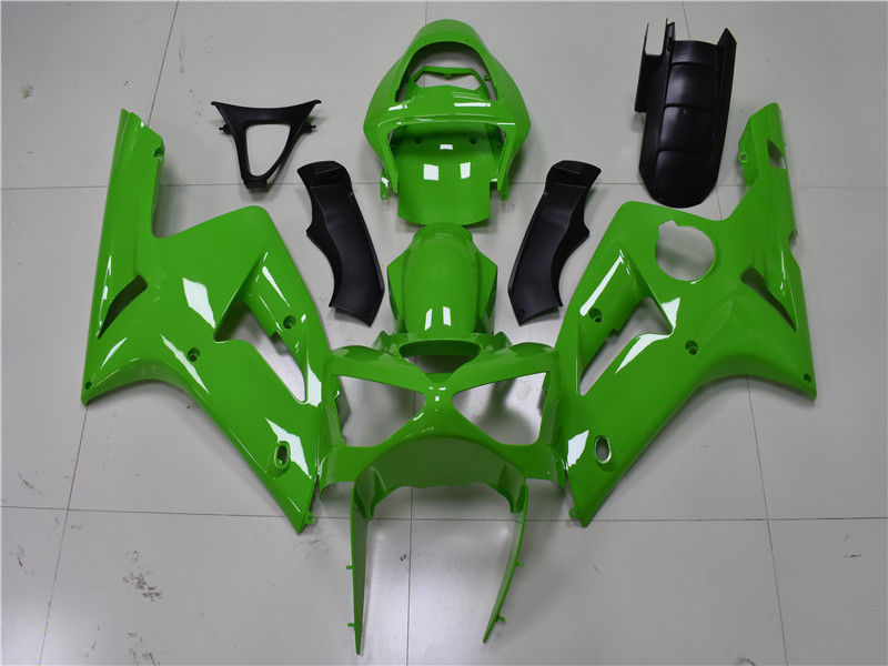 NT Aftermarket Injection ABS Plastic Fairing Fit for ZX6R 636 2003-2004 Green N017
