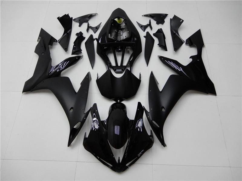 NT Aftermarket Injection ABS Plastic Fairing Fit for YZF R1 2004-2006 Glossy Matte Black N004 Available in CA, TX, IL