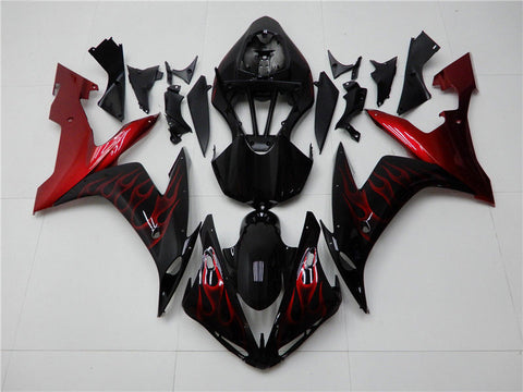 NT Aftermarket Injection ABS Plastic Fairing Fit for YZF R1 2004-2006 Red Black N006