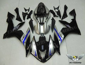 NT Aftermarket ABS Plastic Injection Fairing Kit Fit for YZF R1 2004-2006 Blue Black Silver N021