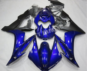 NT Aftermarket Injection ABS Plastic Fairing Fit for YZF R1 2004-2006 Blue Black With Full Tank Cover