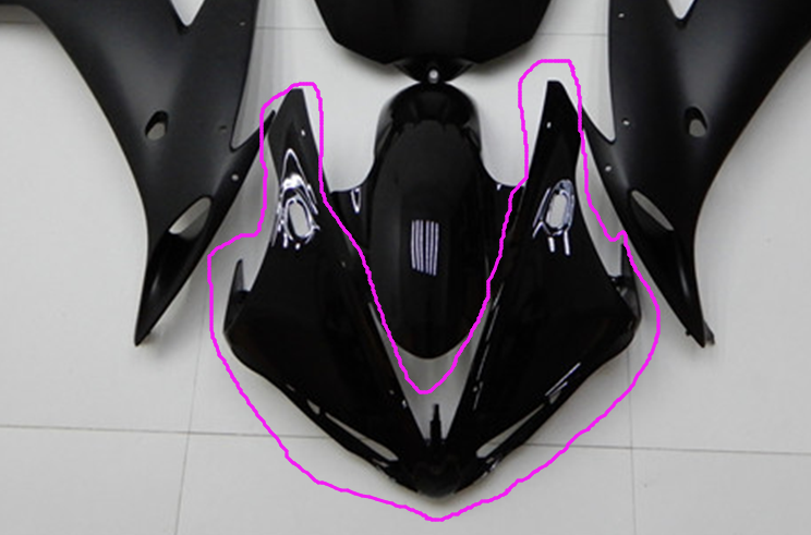 NT Aftermarket Injection ABS Plastic Front Fairing Fit for YZF R1 2004-2006 Glossy Black