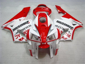 NT Aftermarket Injection ABS Plastic Fairing Kit Fit for CBR600RR 2005 2006 Red White N066 Available in TX