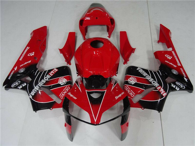 NT Aftermarket Injection ABS Plastic Fairing Kit Fit for CBR600RR 2005 2006 Red Black N101