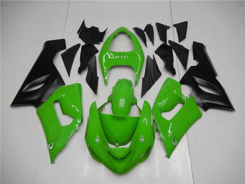 NT Aftermarket Injection ABS Plastic Fairing Fit for ZX6R 636 2005-2006 Green Black N006 Available in TX IL