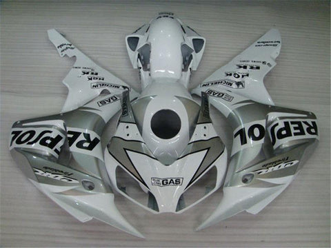 NT Aftermarket Injection ABS Plastic Fairing Fit for CBR1000RR 2006-2007 White Silver Black N001