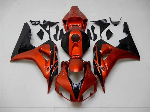 NT Aftermarket Injection ABS Plastic Fairing Fit for CBR1000RR 2006-2007 Orange Black N002 Available in IL