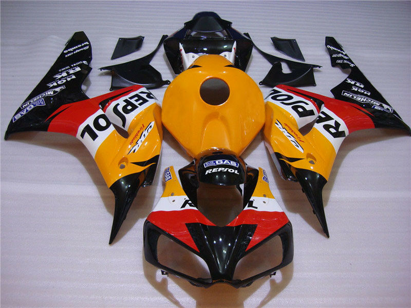 NT Aftermarket ABS Plastic Injection Fairing Kit Fit for CBR1000RR 2006-2007 Orange Black N052